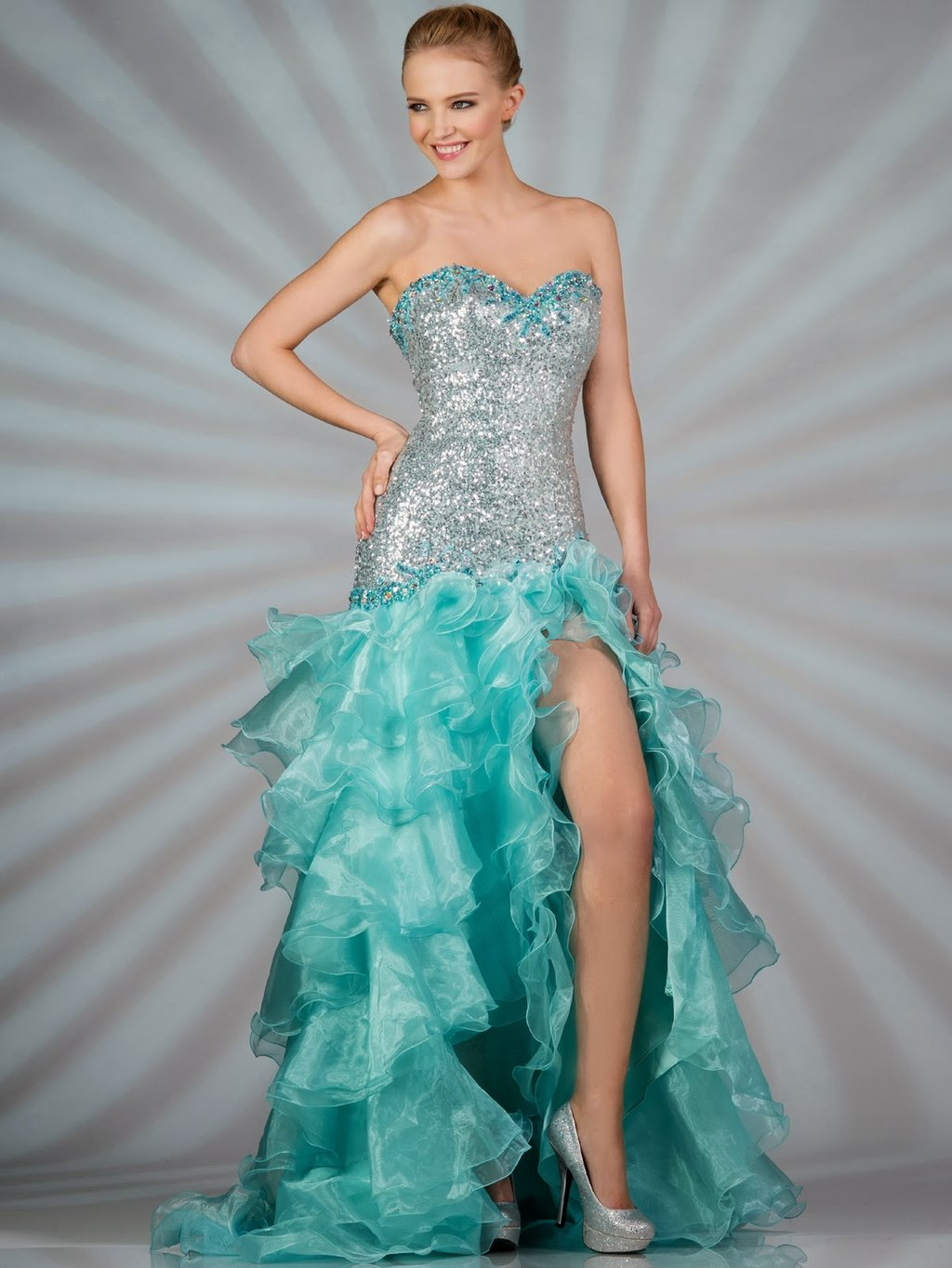 Dressybridal 2014 Prom Color Trend Stunning Aqua Blue   Bedroom Ideas For Teen Girls
