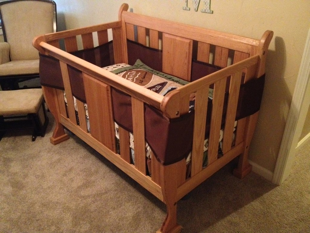 Drew 39 Sleigh Crib Wood Whisperer How To Make Baby Changing Table Dresser