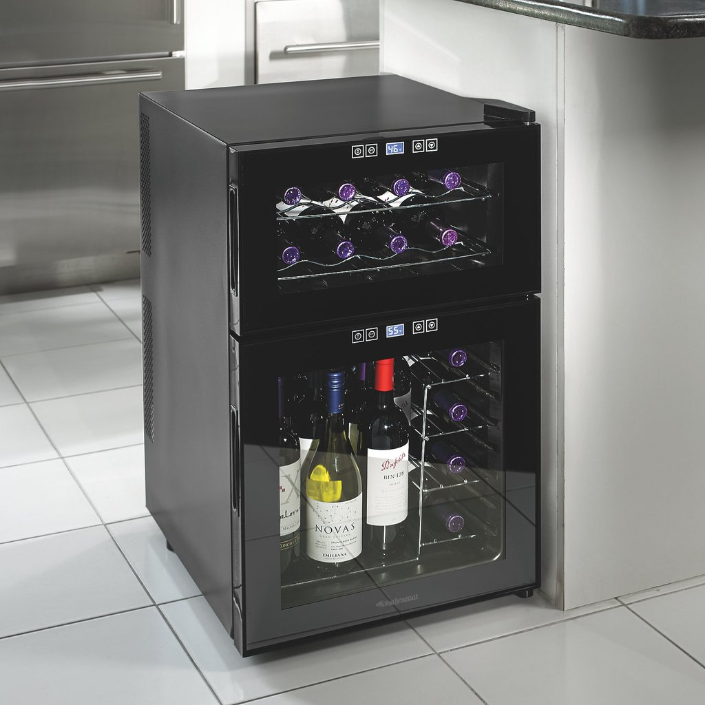 Dual Temp Wine Cooler Homesfeed How To Installing Wine Cooler Cabinet