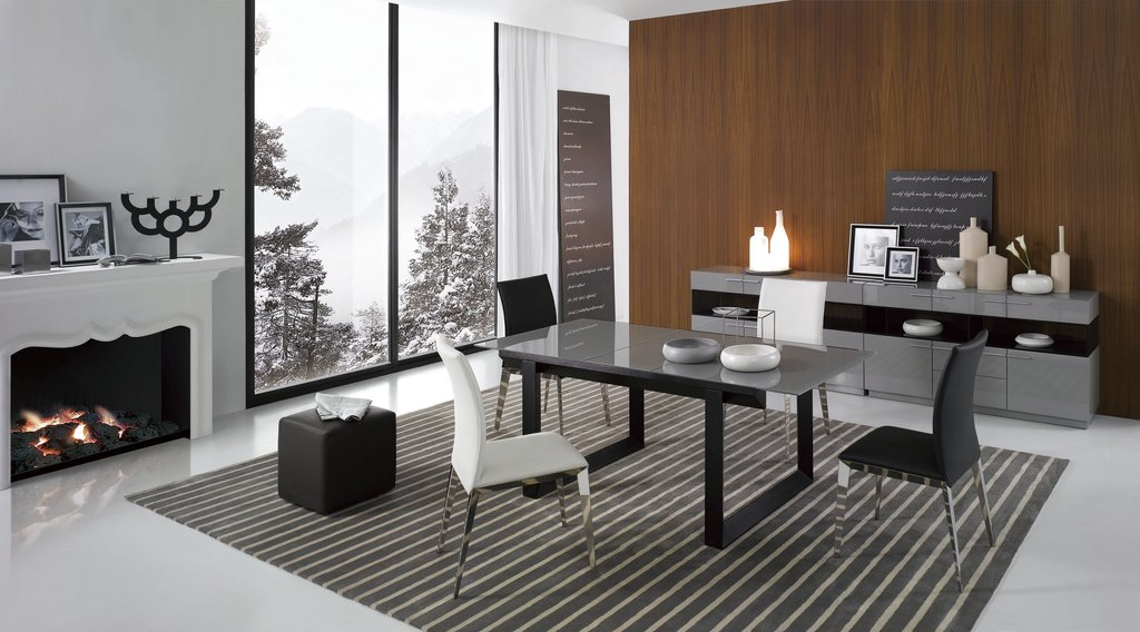 E137t Modern Extendable Glass Dining Table Extendable Dining Table Ideas