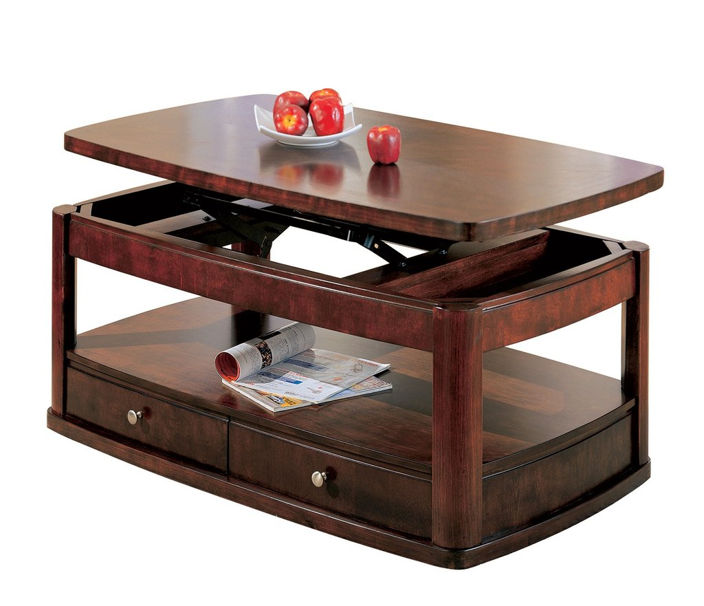 Evan Merlot Coffee Table Lift Top Storage Drawer A Unique Square Lift Top Coffee Table