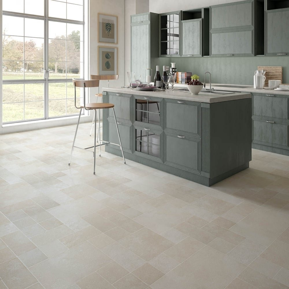 Executive 8mm Tile Effect Laminate Multi Beige 2 Tile Effect Laminate Flooring For Bathrooms