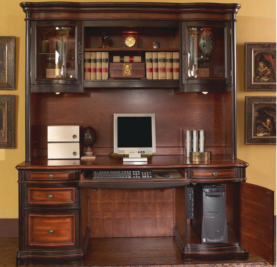 Executive Piece Grand Style Home Office Set About Office Hutch Furniture