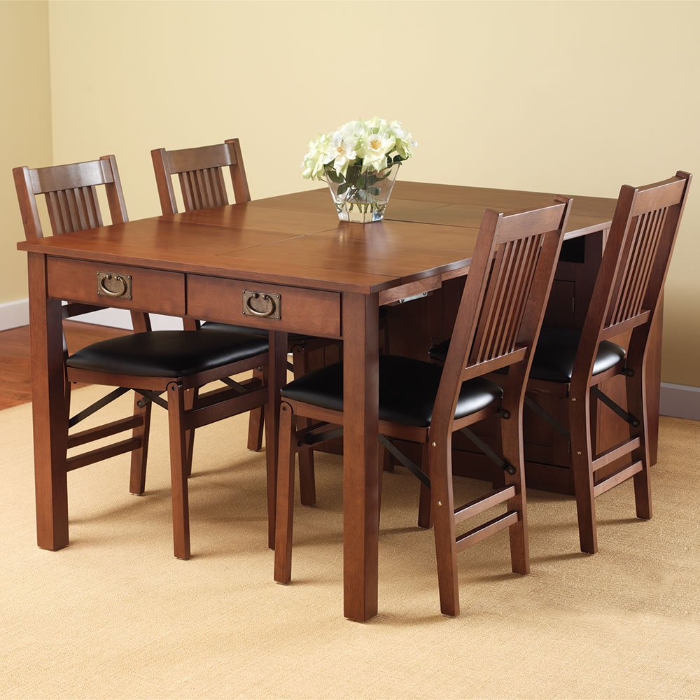 Expanding Dining Table Hutch Hammacher Schlemmer Extendable Dining Table Ideas