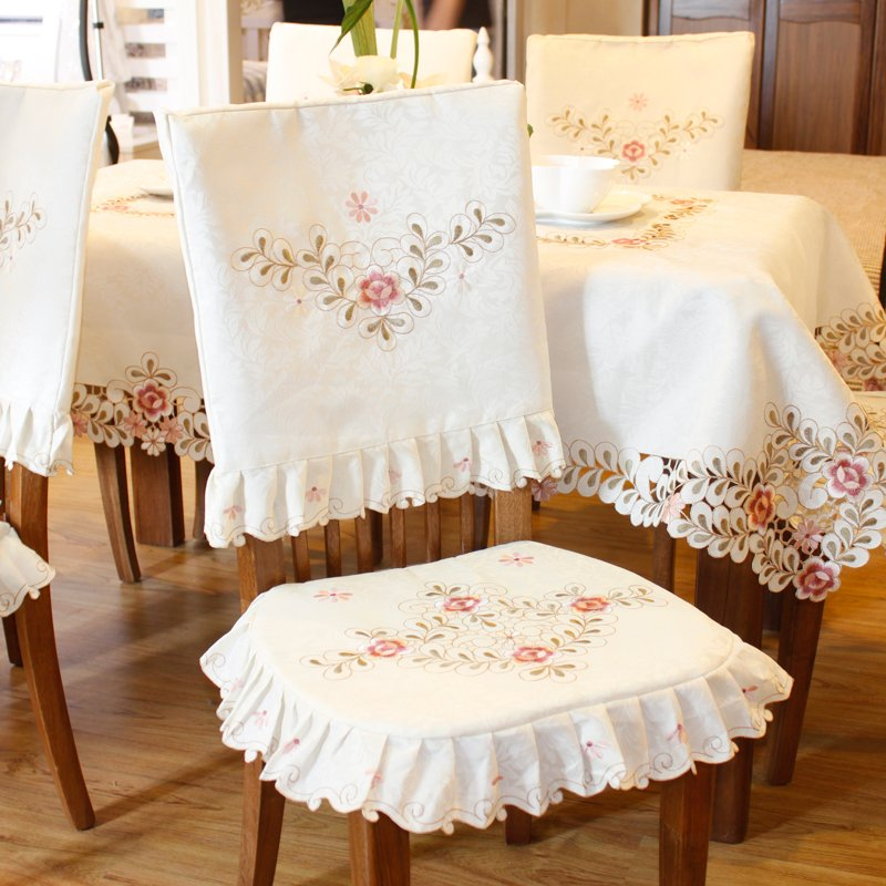 Exquisite Top Grade Square Dining Table Cloth Chair Cover Making Dining Room Chair Slipcovers