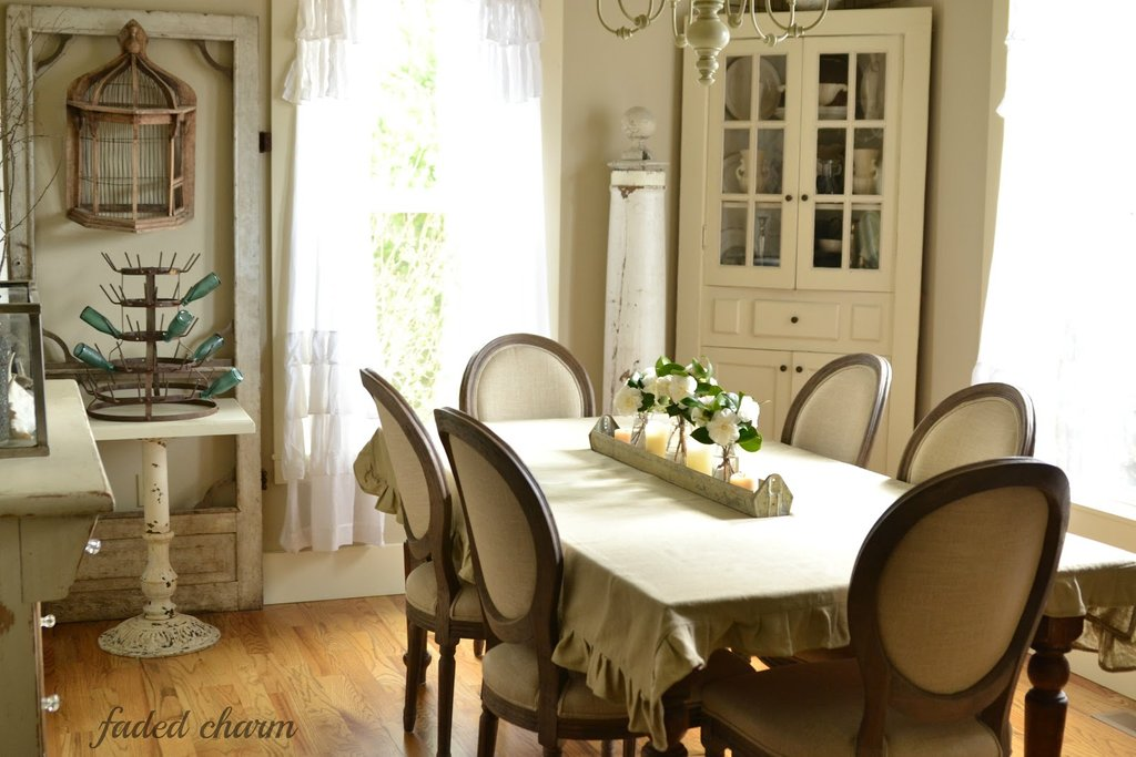 Faded Charm Dining Room Chairs With Arms