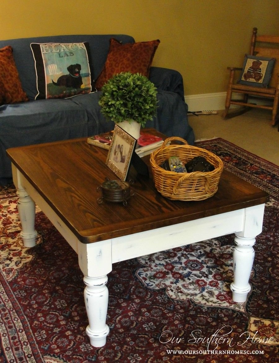 Farmhouse Coffee Table Makeover Crafty 2 Core Diy Make A Dresser Look Distressed Dresser