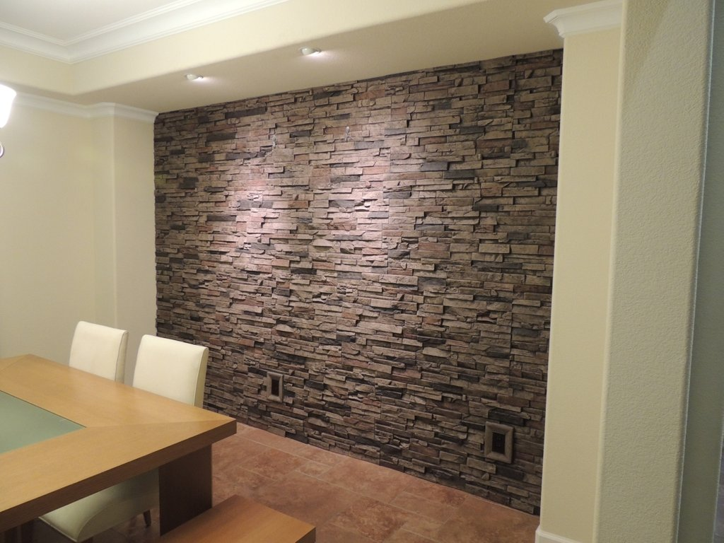 Faux Stone Panels Photo Love Waterfall Wood Paneling Makeover Remodel