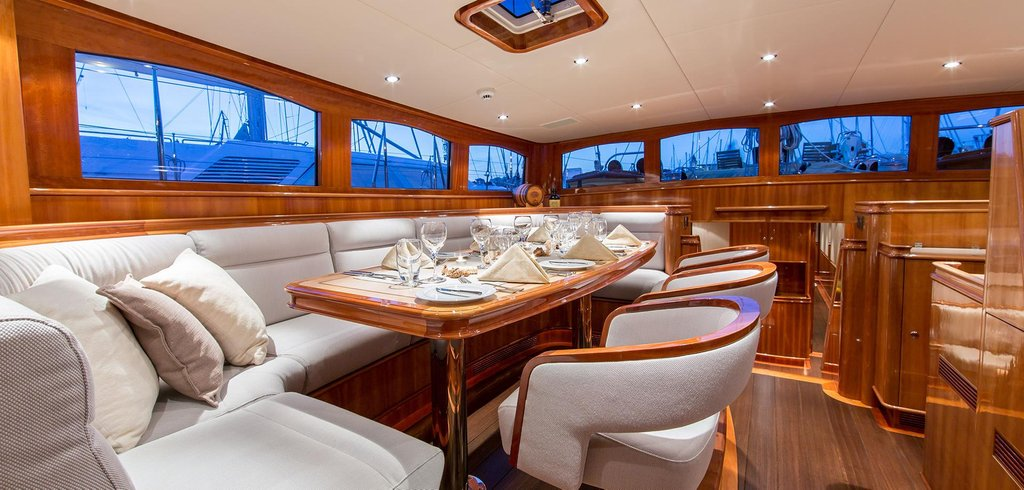 Fiducium Yacht Charter Details Ferretti Charterworld Color Design For House Interior Dining Room
