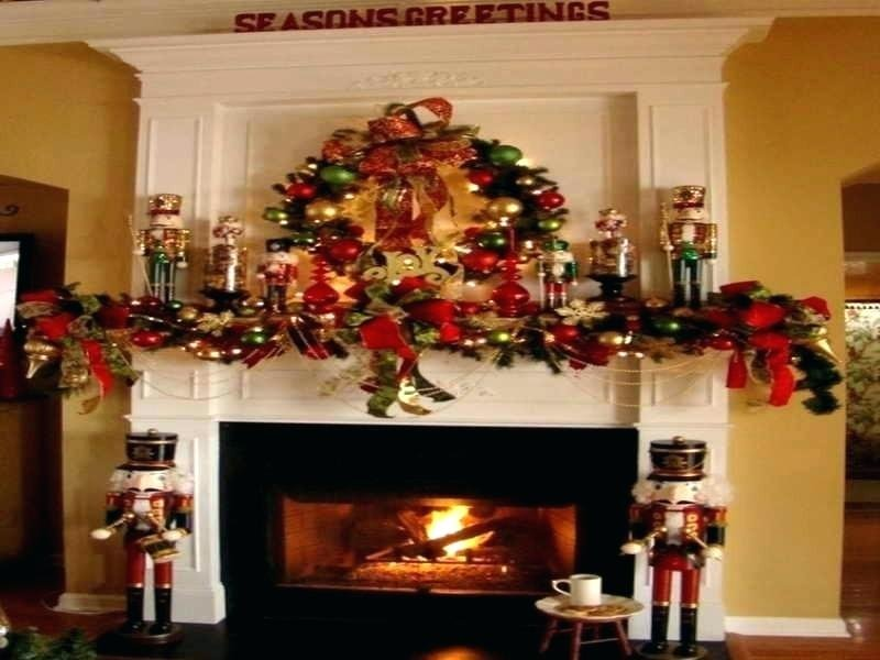 Fireplace Christma Decoration Idea Fireplace Mantel Considering For Square Bistro Table