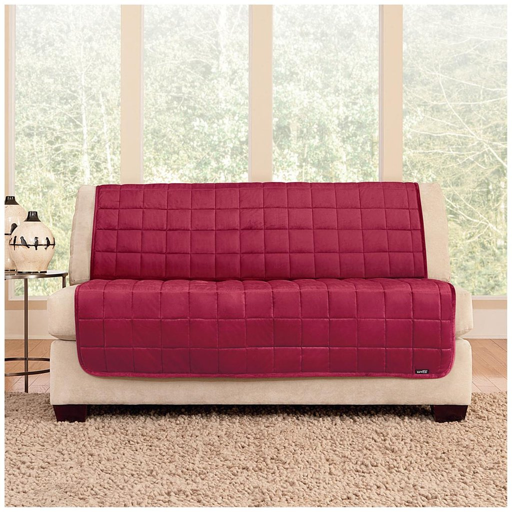 Fit Quilted Velvet Furniture Friend Armless Loveseat How A Reclining Sofa To Function Properly