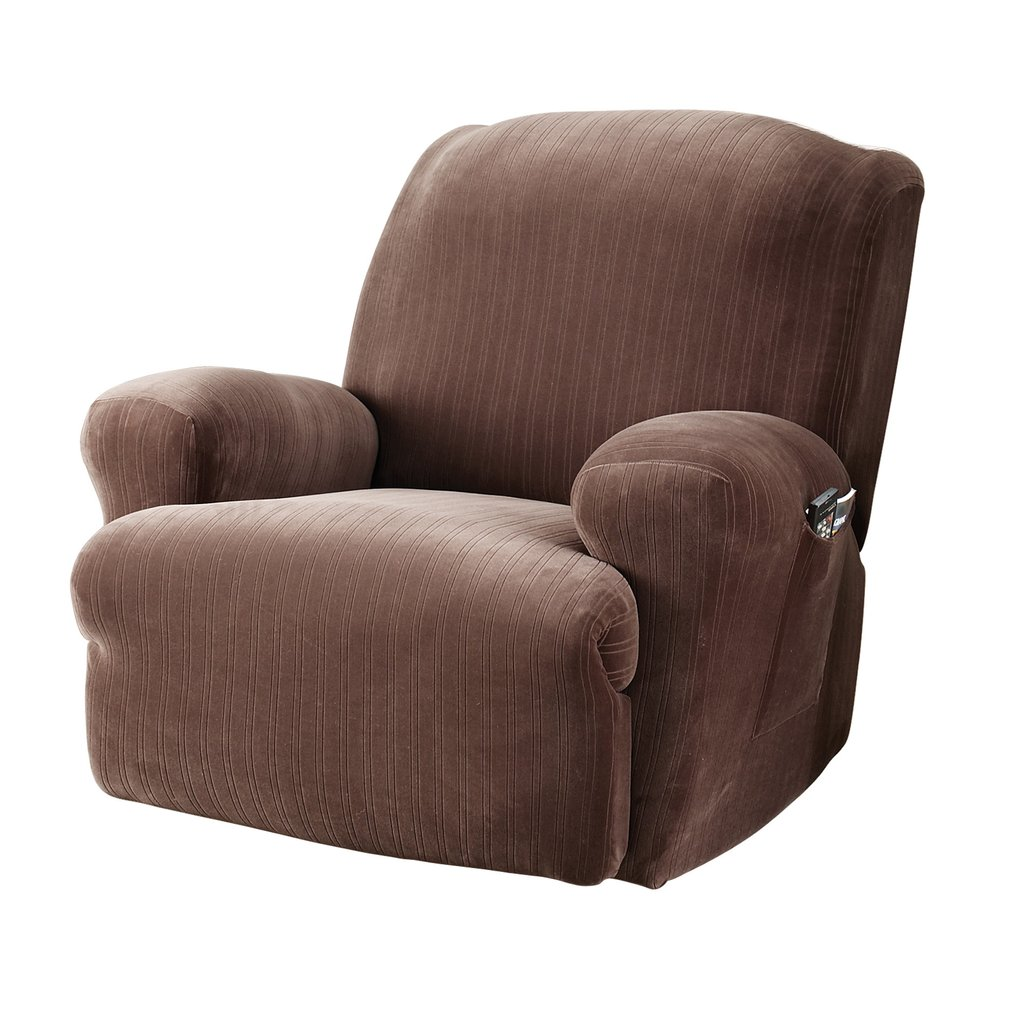 Fit Stretch Pinstripe Recliner Slipcover Review Ideas Decorating Recliner Sofas