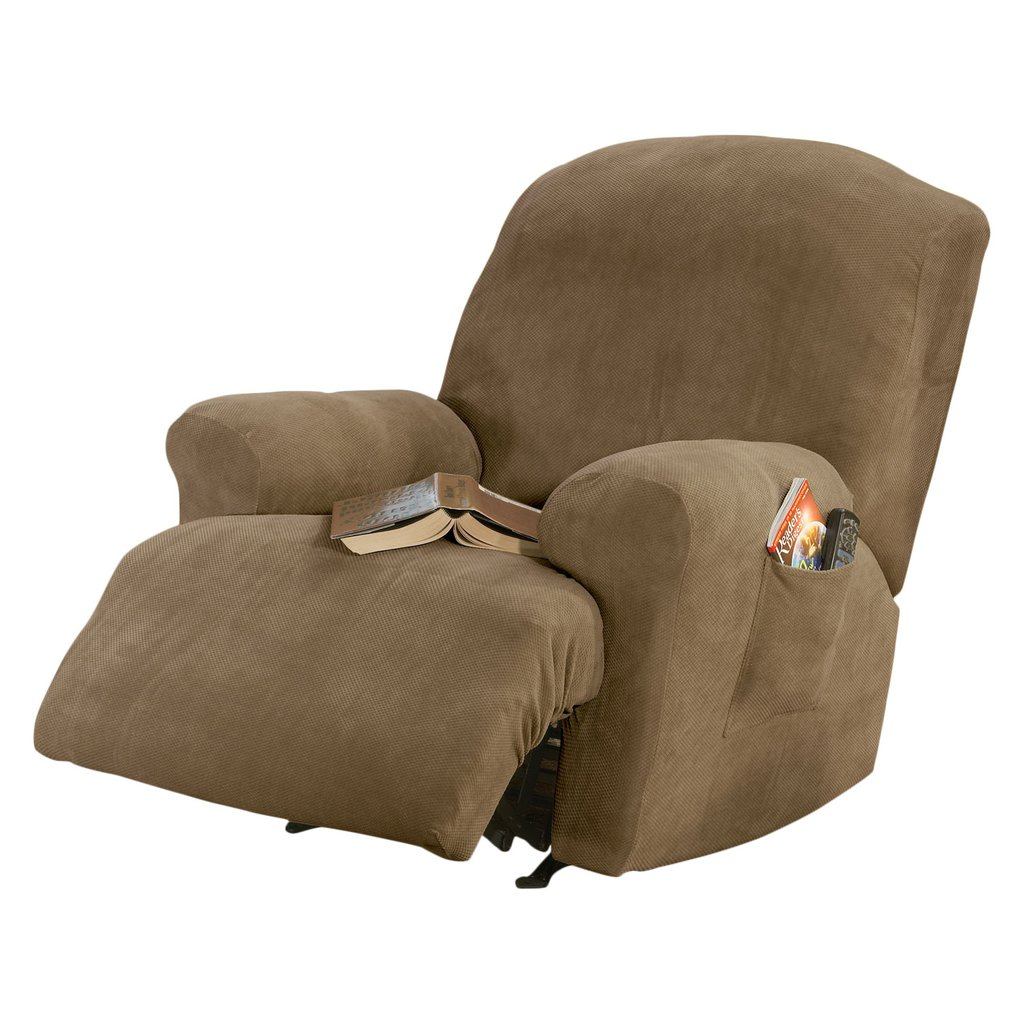 Fit Stretch Pique Recliner Cushion Slipcover How A Reclining Sofa To Function Properly