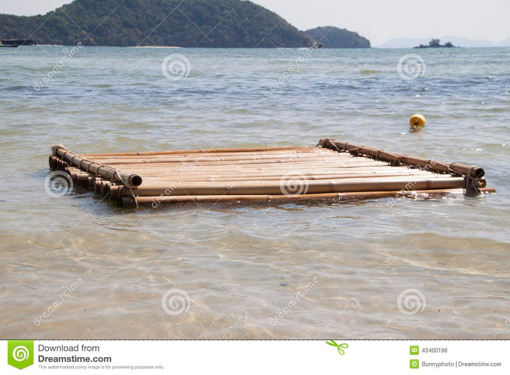 Floating Bamboo Raft Stock Photo Image 43400196 How To Install Floating Bamboo Flooring