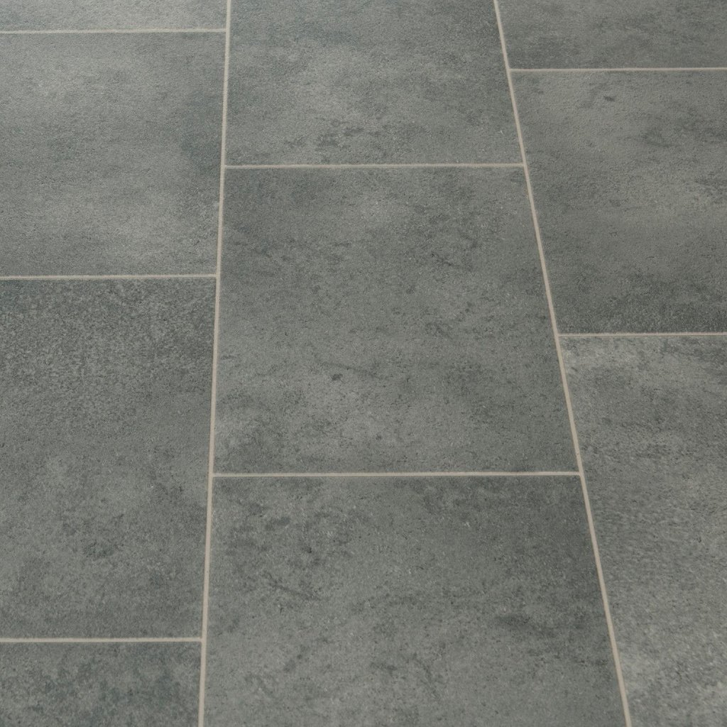 Floorgrip 593 Galerie Grey Stone Tile Effect Vinyl Tile Effect Laminate Flooring For Bathrooms