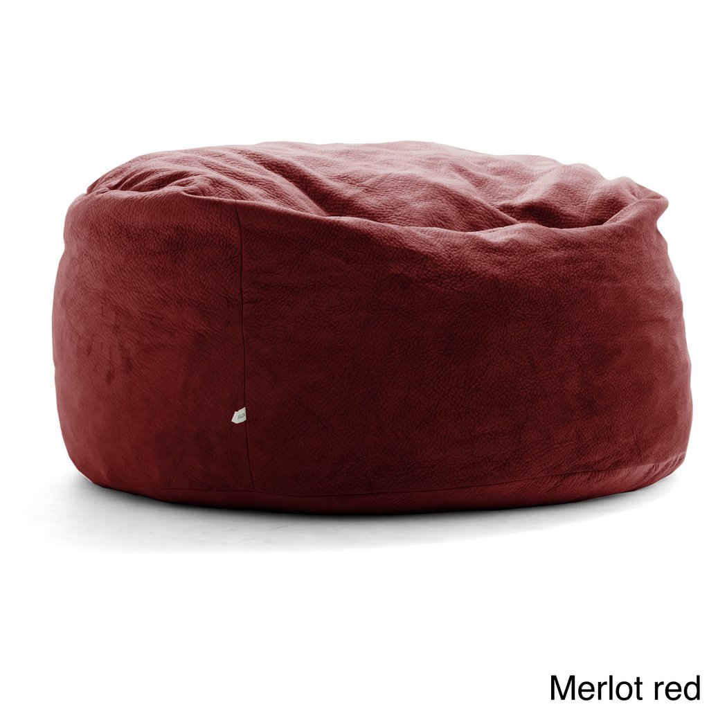 Fufsack Big Joe Lux King Textured Polyester Memory Memory Foam Bean Bag