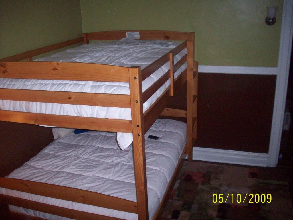 Full Full Bunk Bed Plan Diy Blueprint Build Wooden Twin Bed Frame