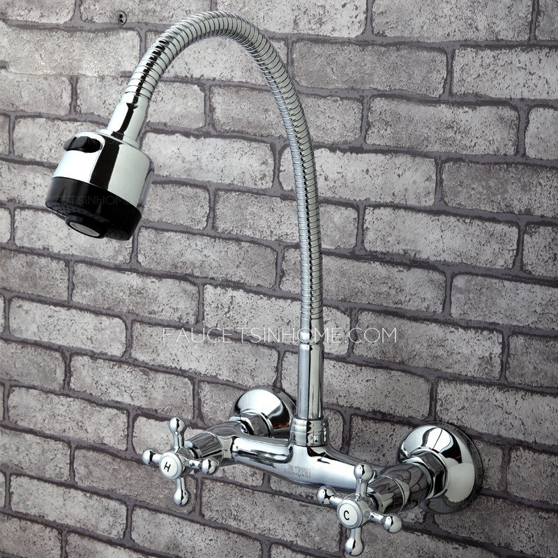 Full Rotatable Wall Mounted Kitchen Sink Faucet Wall Mount Kitchen Faucet Ideas