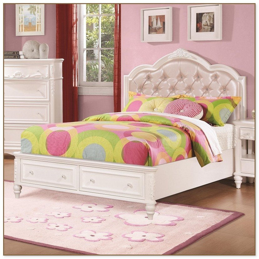 Full Size Princess Bed Larger Image Full Size Paint On Iron Headboard