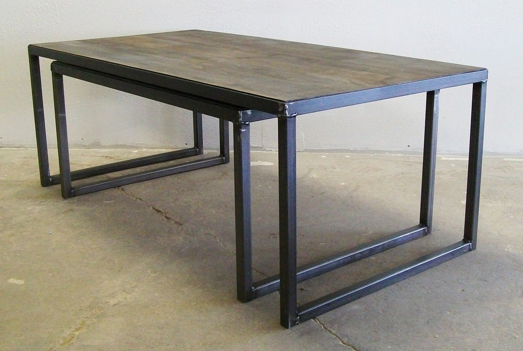 Furniture Amalgam Steel Nesting Coffee Table Black How To Make Round Ottoman Coffee Table