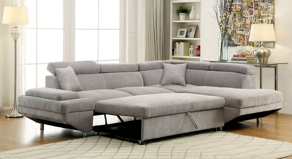 Furniture America 6124gy Gray Modern Sleeper Sectional Sofa So Many Choice Of Sleeper Sofa Sectional