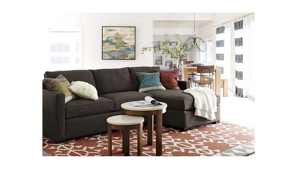 Furniture Crate Barrel Lounge Vaughn Apartment Sofa Tuxedo Sofa Crate And Barrel