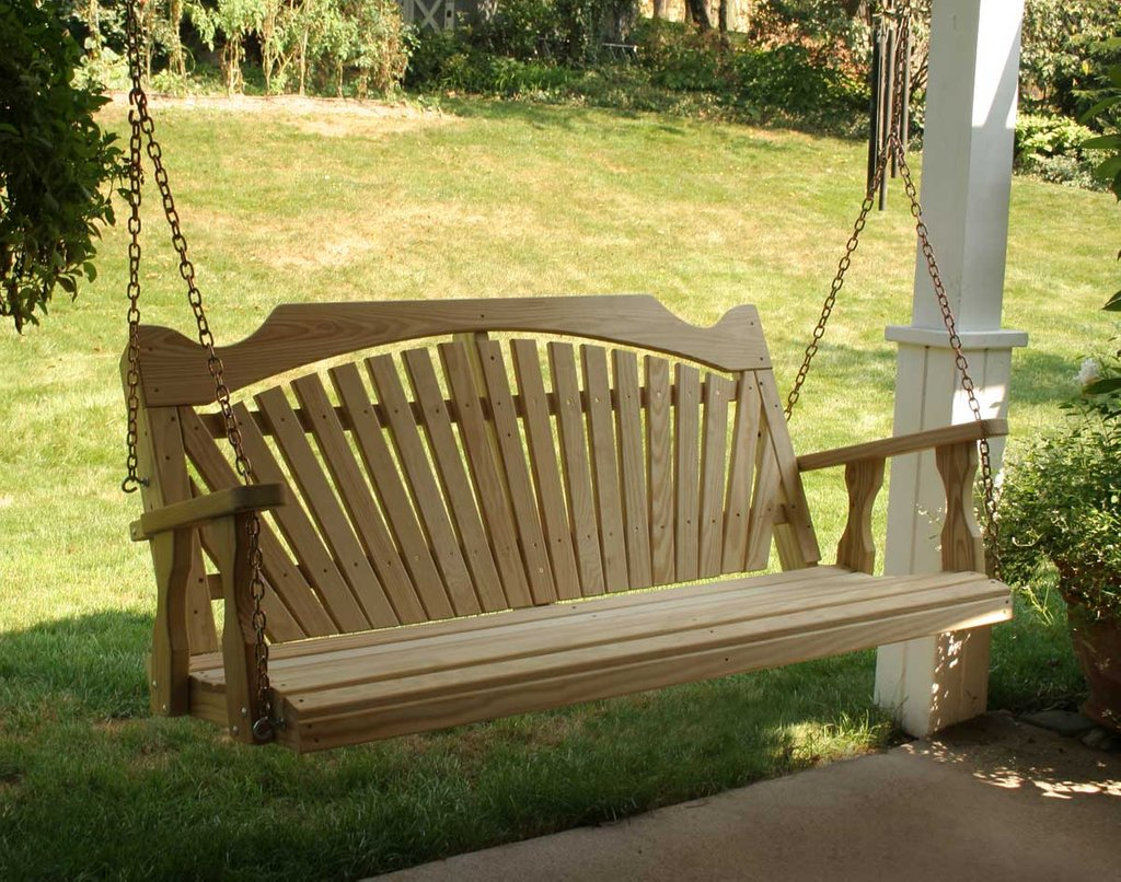 Furniture Custom Wrought Iron Bench Garden Wooden Porch Swings With Frame