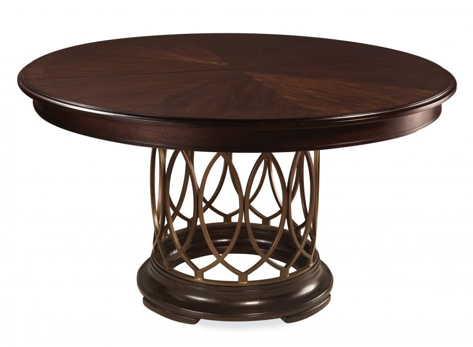 Furniture Dark Brown Polished Teak Wood Dining Table Reclaimed Wood Round Dining Table
