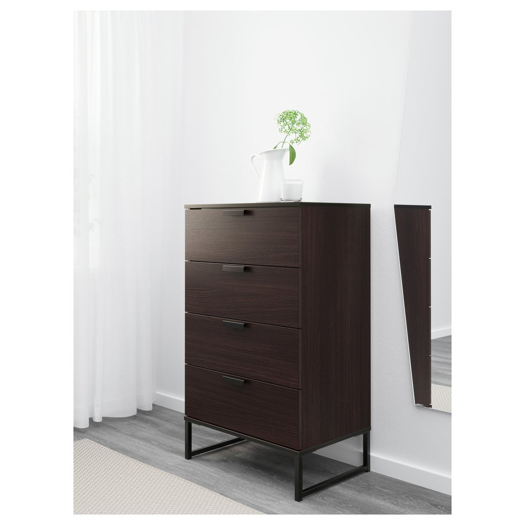 Furniture Fantastic Ikea Lingerie Chest Bedroom Mirrored Nightstand And Dresser