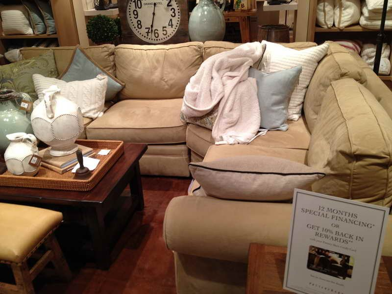 Furniture Pottery Barn Sectional Sofa Pottery Barn Deep Sectional Sofas Living Room Furniture