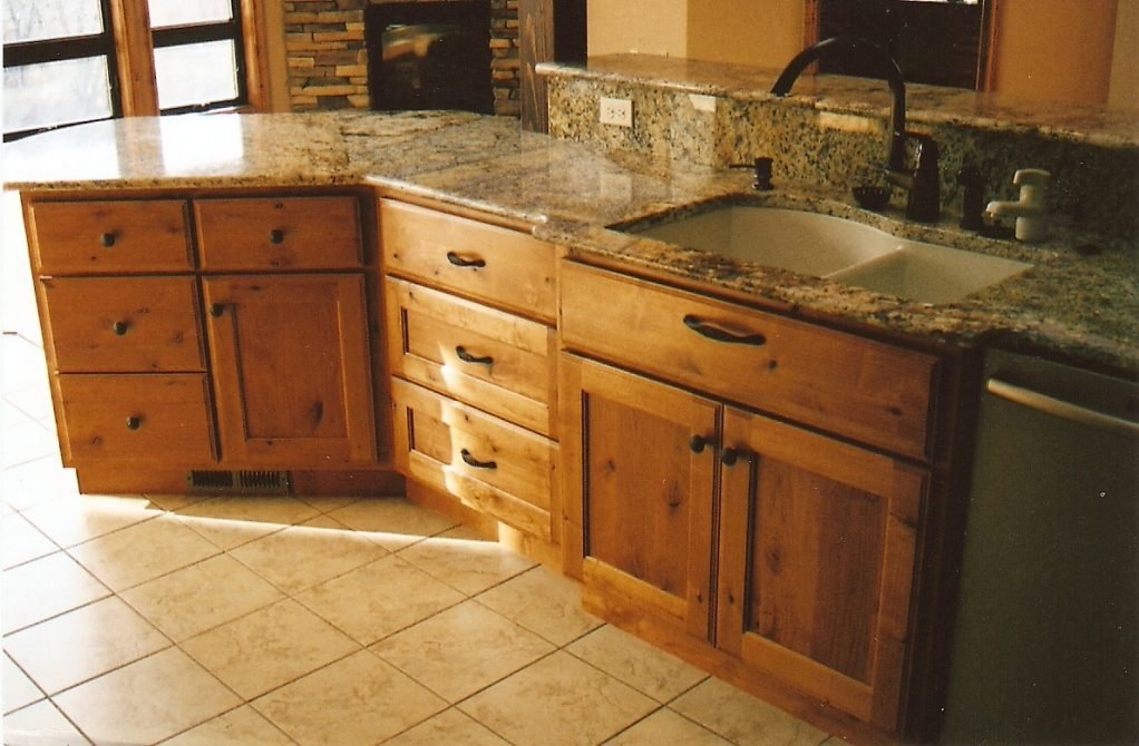 Furniture Rustic Holic Accent Kitchen Knotty Wood Knotty Pine Cabinets