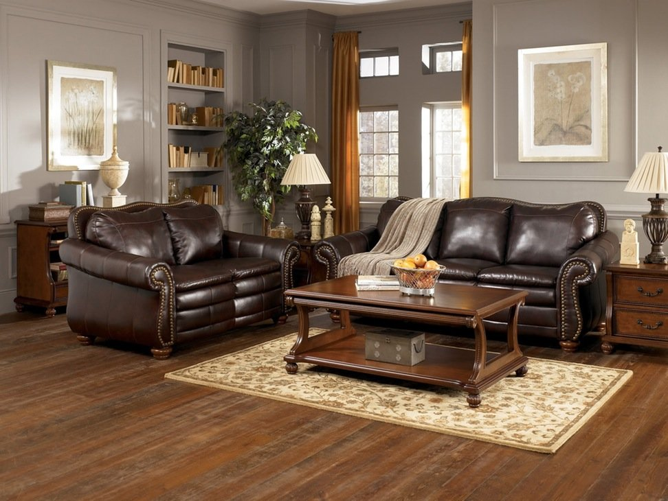 Furniture Traditional Living Room Design Idea Brown The Best Way To Keep Clean Beige Leather Sofa