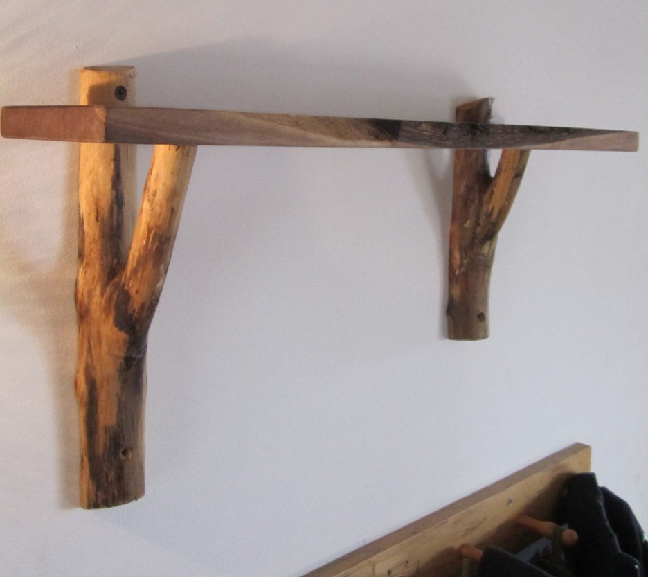 Furniture Traditional Room Interior Design Rustic Wooden Shelf Brackets Ideas