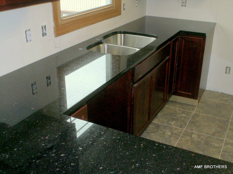 Galaxy Granite Countertops Black Galaxy   Granite Tile Backsplash