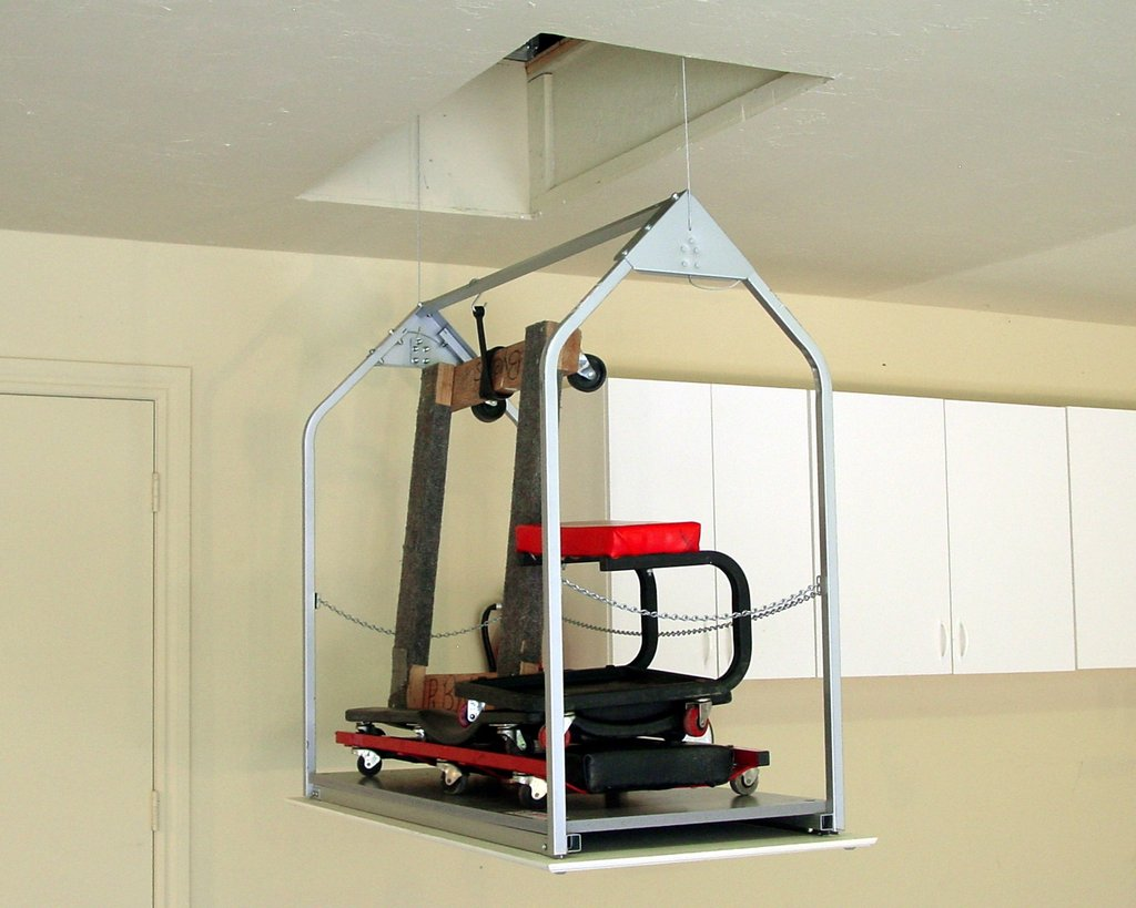 Garage Lift System Pulley Home Idea Collection Create Staining Wood Floors With Dark Color