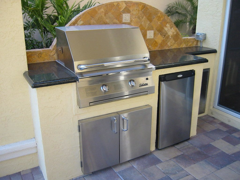 Gas Grill Refrigerator How To Installing Wine Cooler Cabinet