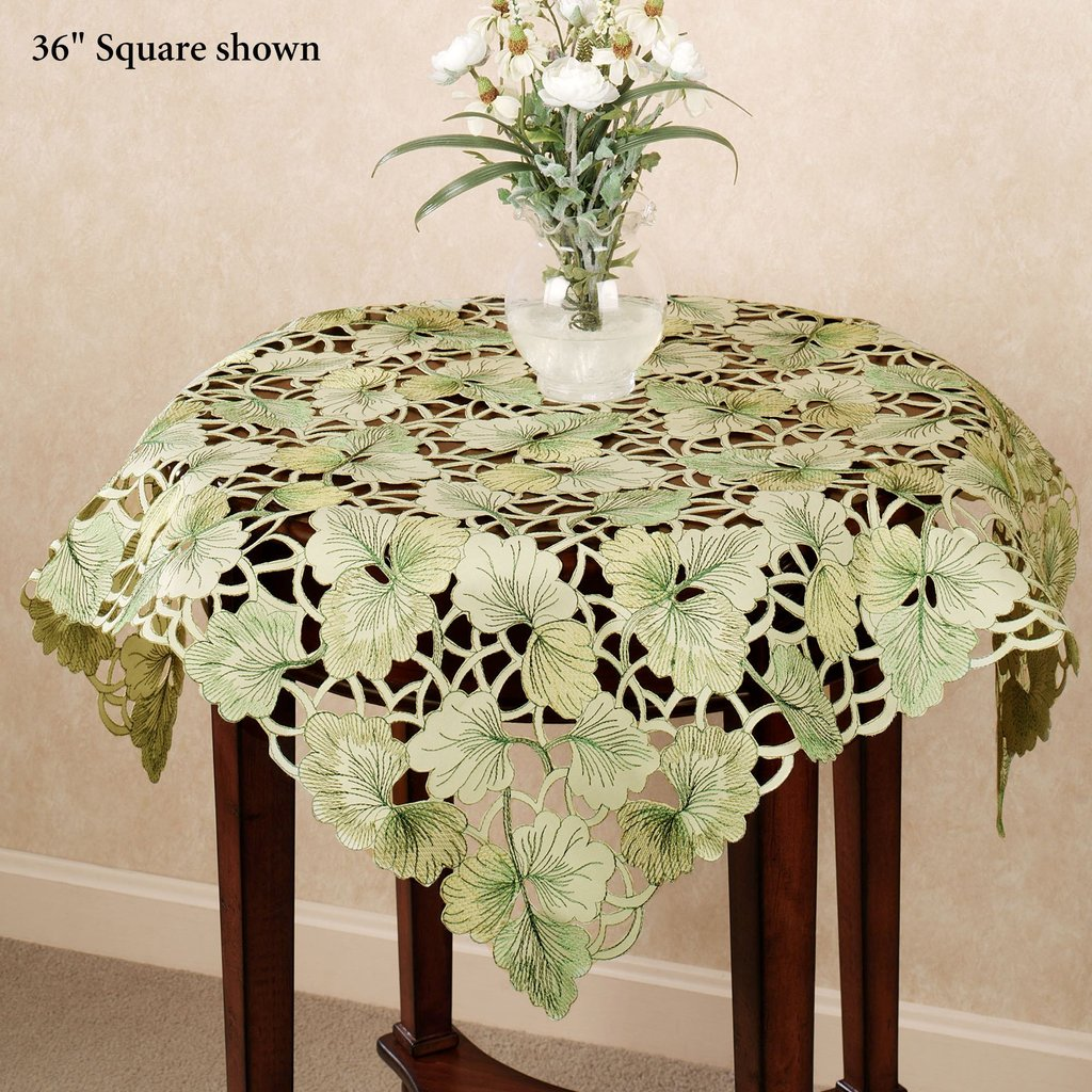 Ginkgo Leaf Cutwork Table Topper Changing Table Topper Children