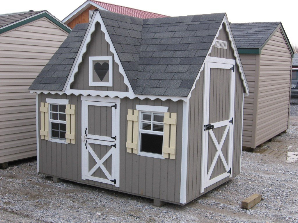Girl Wooden Playhouse 4 Outdoor Durability Of Kids Wooden Playhouse