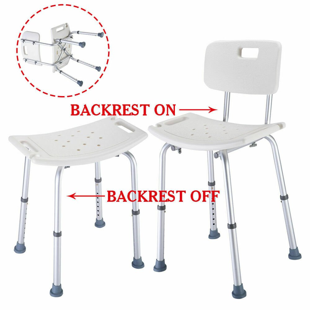 Goplu 8 Height Adjustable Medical Shower Bath Chair Stool How To Build A Wooden Bathtub Stool