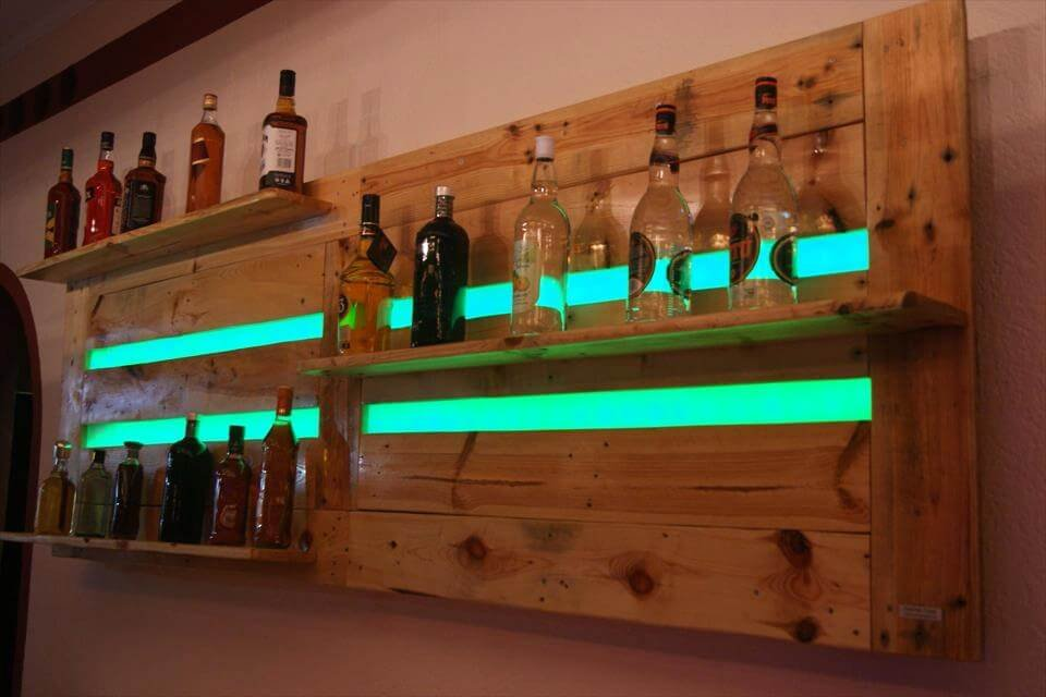 Gorgeou Wood Pallet Bar Project How To Make A Wooden Pallet Shelves