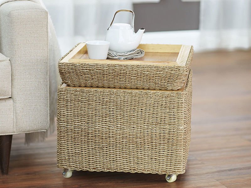 Great Painting Wicker Furniture Kitchen Inspiration Painted The Wicker End Tables