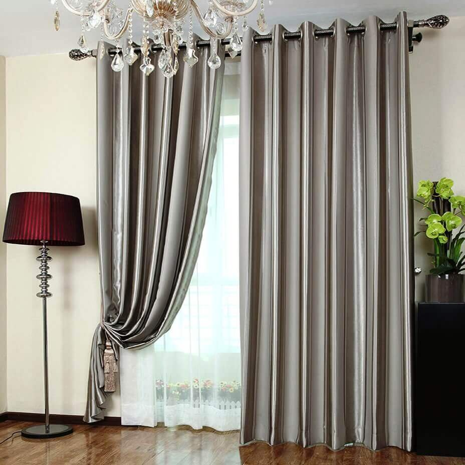 Grey Blackout Curtain Set Blackout Curtain Design Wood Shake Siding Installation