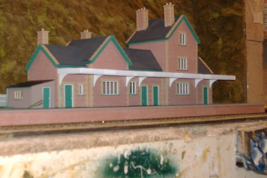 Gwr Station Building Penzer Gauge Model Railway Faux Brick Flooring Finish