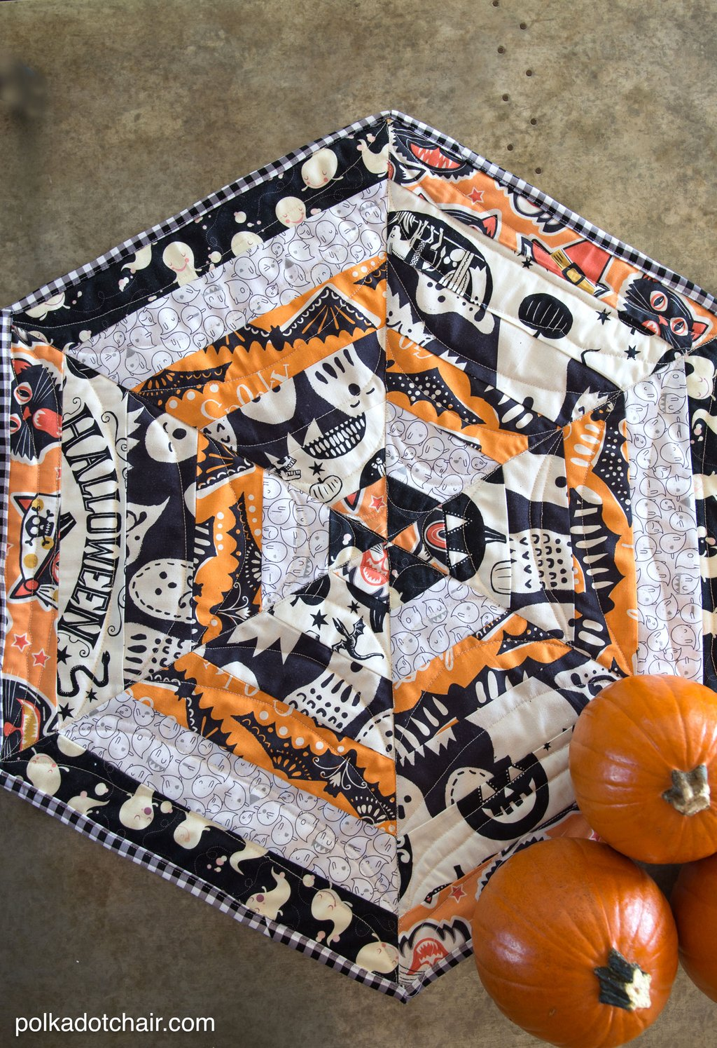 Halloween Quilted Table Topper Tutorial Changing Table Topper Children