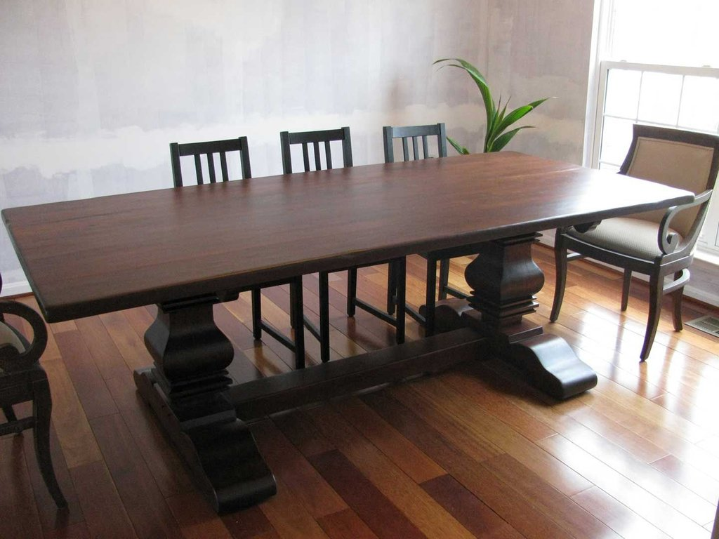 Handmade Rustic Cherry Double Pedestal Table Shenandoah Double Pedestal Dining Table Antique