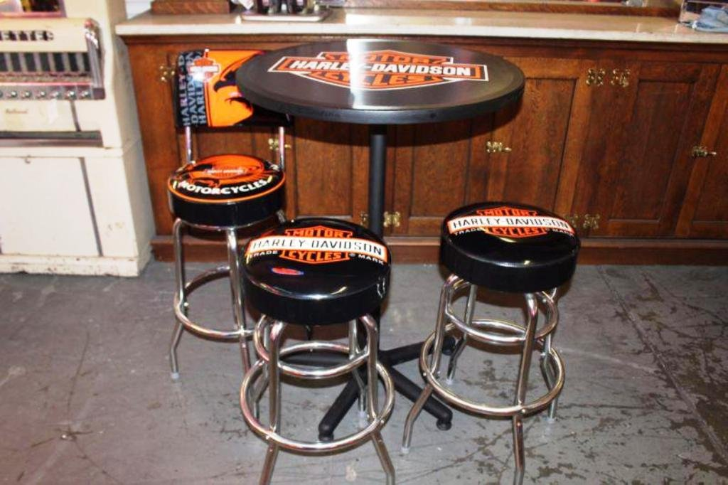 Harley Davidson Table Bar Stool Home Design Leather Sectional Sleeper Sofa Dye