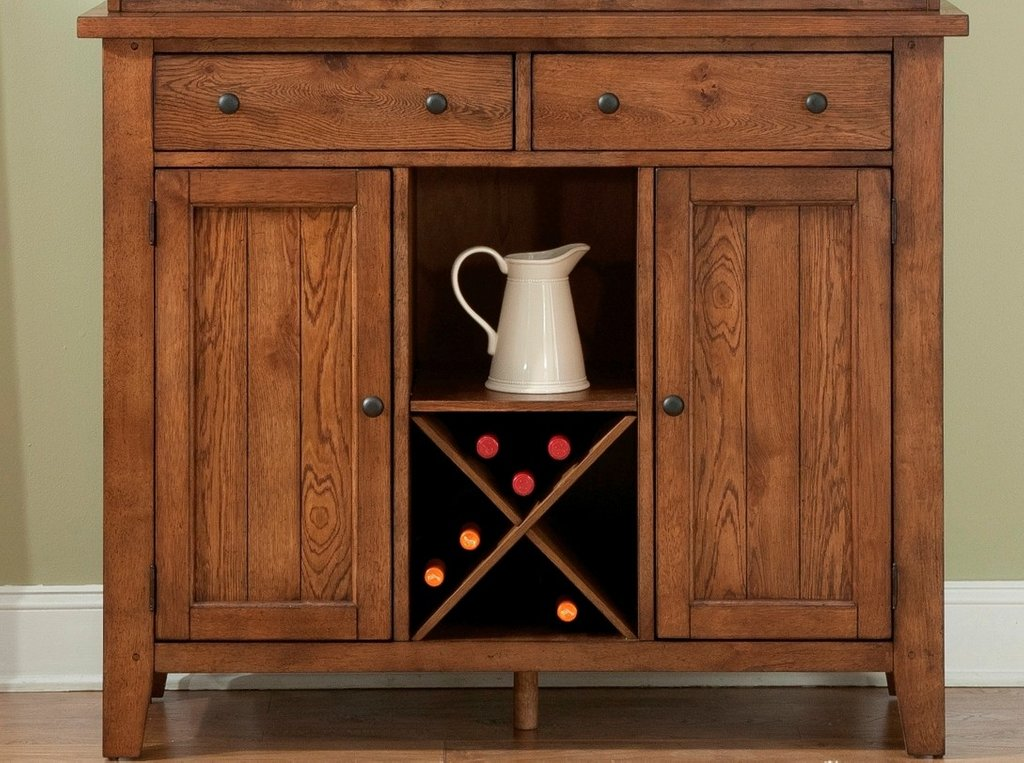 Hearthstone Rustic Oak Server Liberty 382 Sr5074 Make Wooden Narrow Dresser Easier For The Drawer Slide