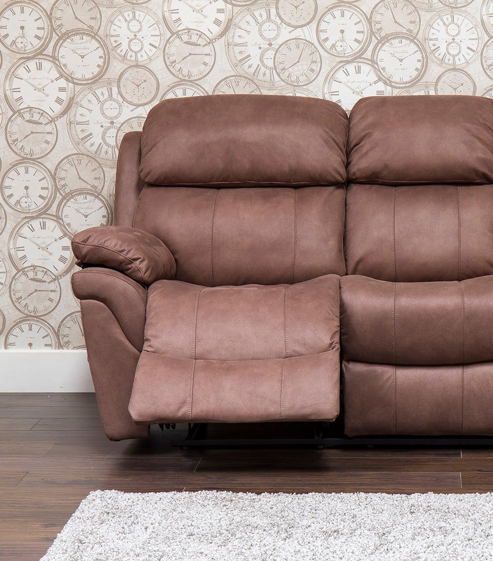 Henley Fabric 2 Seater Recliner Sofa 2rr 2 Seater Suede Couch Home