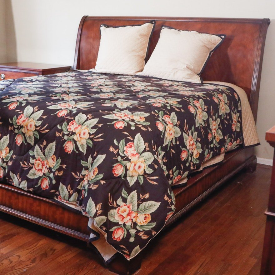 Henredon Quot Aston Court Quot Mahogany King Sleigh Bed Ebth Wicker Headboard Is Durable Furniture