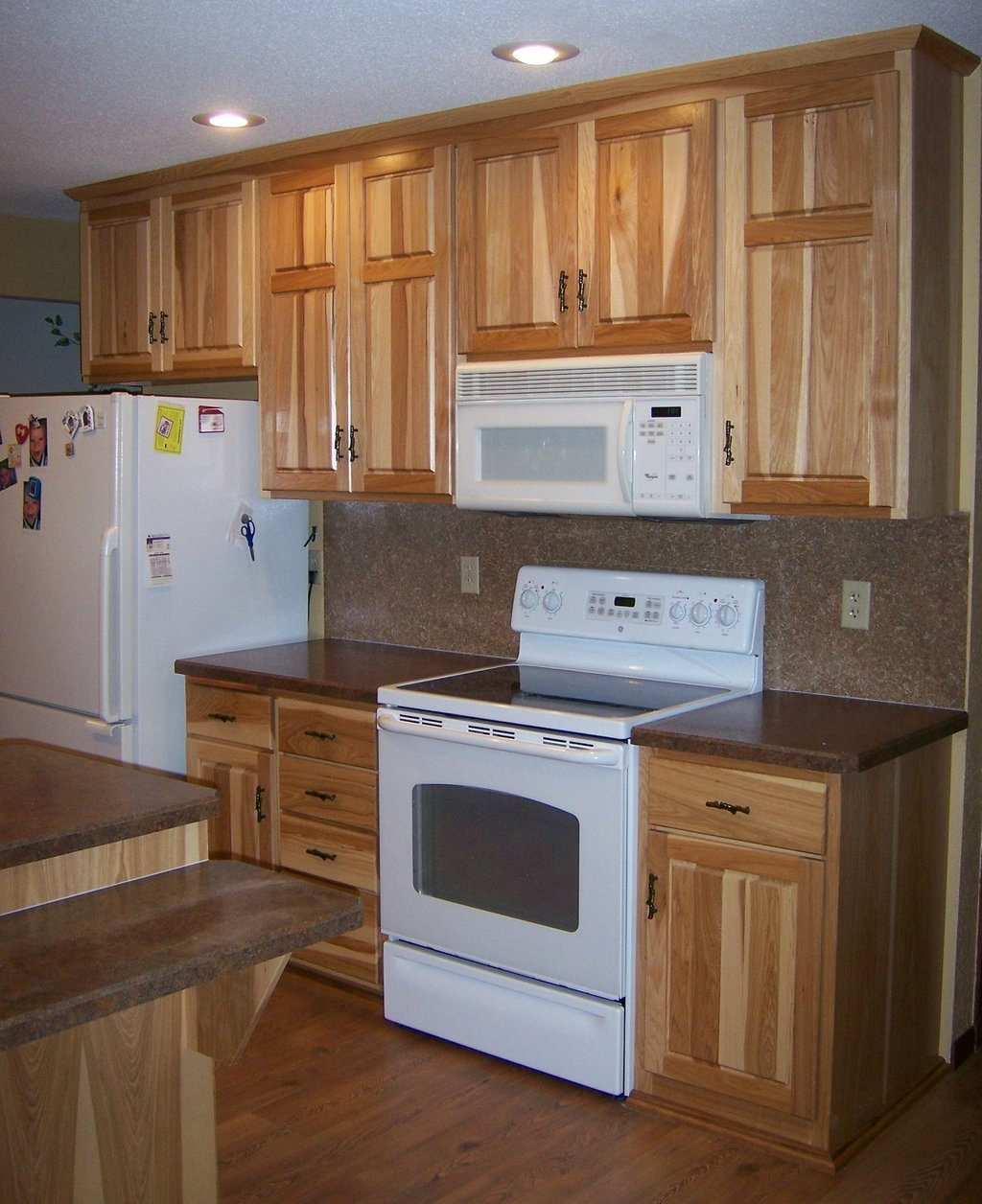 Hickory Kitchen Cabinet Black Appliance Wow Blog Installing Hickory Kitchen Cabinets